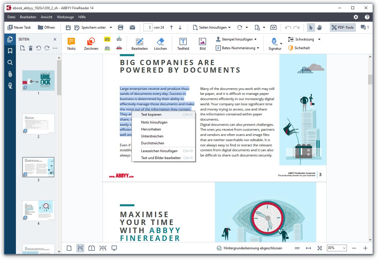 Как снять защиту с pdf формата в FineReader