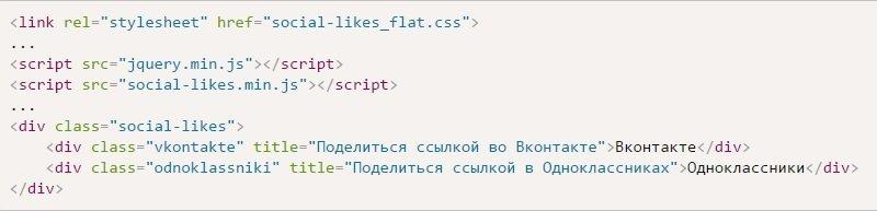 Код социальных сетей