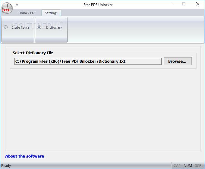 Как снять pdf блокировку в Free PDF Unlocker