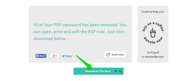 Как загрузить разблокированный файл формата PDF