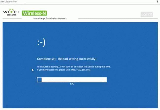 Сброс настроек wi-fi репитора