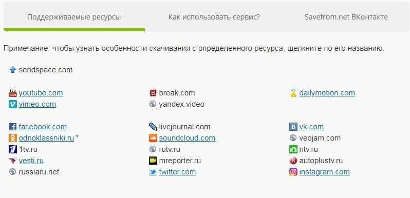 Скачать видео с сайта