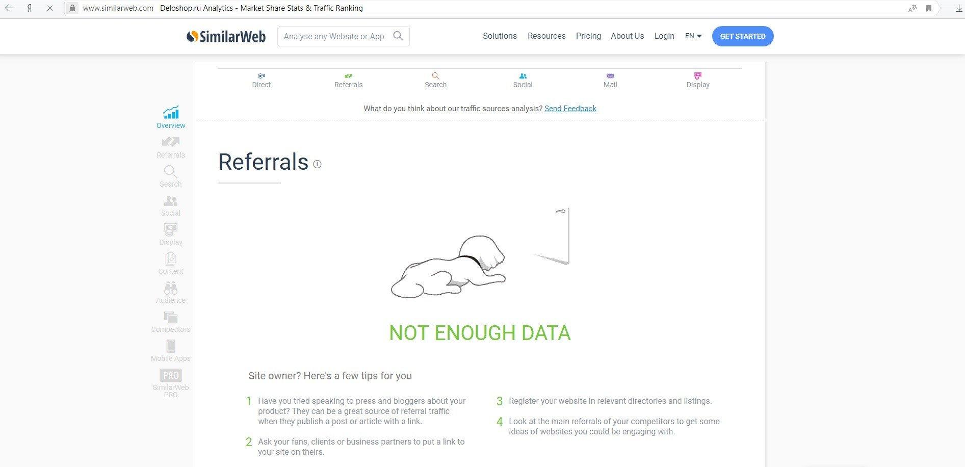 Аналитика в SimilarWeb