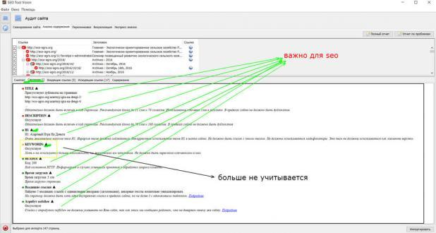Сниппет - технические ошибки сайта