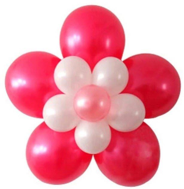цветок из шариков